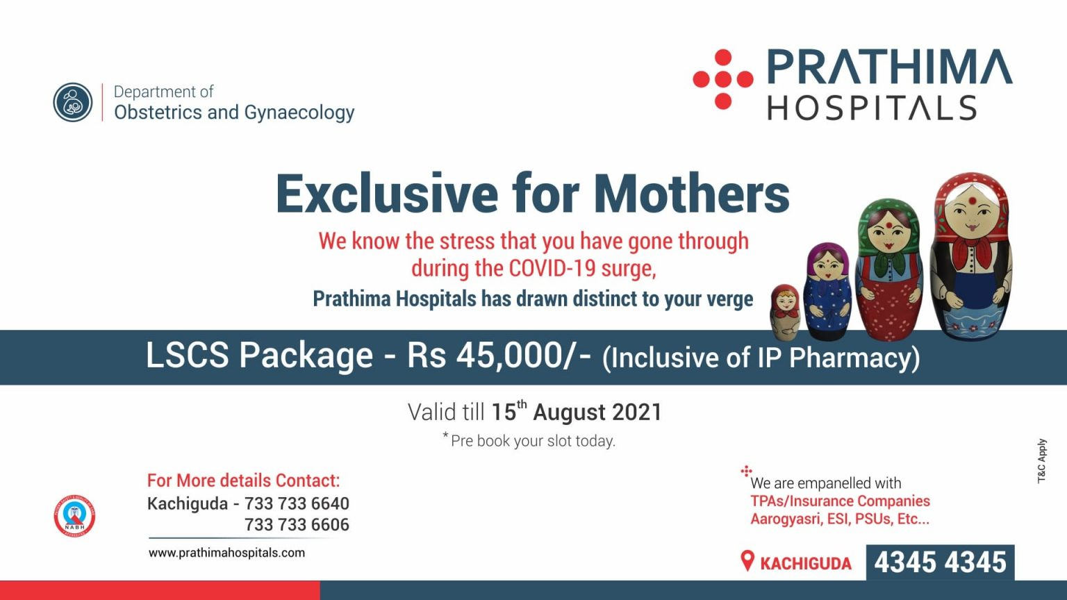 Gynaecology health package- prathima hospitals, kachiguda